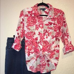 154- floral blouse size medium